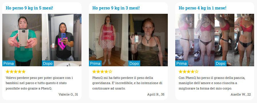 Recensioni e foto prima / dopo che mostrano i risultati della perdita di peso
